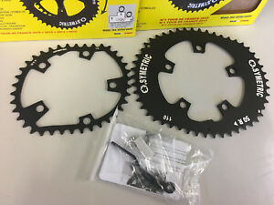 Osymetric Aluminum BCD110mm 5Bolt 50T+38T Chainring Set For Shimano/Sram