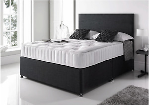 NEW ORTHOPAEDIC DIVAN BED WITH MATTRESS AND HEADBOARD 3FT 4FT6 Double 5FT King