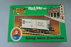 "Rai-Mo H0 Königl.württ. Staatsbahn Bierwagen Reihe "" H "" Metall in OVP"
