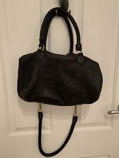 Deadly ponies black handbag with brass
