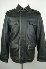 Levis Leather Motorcycle Jacket Distressed Men Size Medium