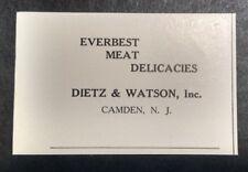 1948 Everest Meat Delicacies - Dietz & Watson Inc. Advertisement Camden NJ