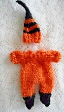 "Doll Clothes Hand-knitted Halloween-Thanksgiving Pumpkin Costume for 4"" to 5in."