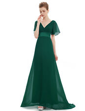 Short Sleeve V-Neck Long Holiday Dresses Mother of the Bride Long Maxi Prom Gown