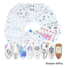 40Pcs/sheet Bulk Nail Art Transfer Stickers 3D Decal Manicure Decoration Tips