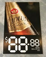 Crown Lager Beer Advertising Corflute Double Sided Display Sign