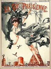 1927 La Vie Parisienne Changement de Temps France French Travel Art Poster Print