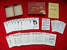 "Antique ""A Good Game ZUM"" 1905 Milton Bradley Card Game ~ Complete"