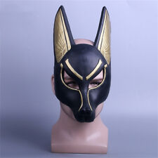 Egyptian Anubis Mask Halloween Cosplay PVC Face Wolf Head Helmet Props Free Ship