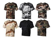 Kurzarm Herren-T-Shirts mit Camouflage-Muster