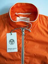 North Sails Veste Homme Petit Orange Léger Coupe-vent neufs Neuf avec étiquettes BRG701 #