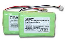 2x Batteria 600mAh 3.6V Ni-Mh per P/N: 23NO09TT30 / AH-AAA600F / 84743411