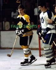 PAT QUINN BOBBY ORR TORONTO MAPLE LEAFS  BOSTON BRUINS 8X10  PHOTO