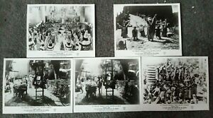 LOT OF 5 ORIGINAL LOBBY CARDS NOAH'S ARK Dir Michael Curtiz 1957 re-release