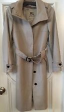 BURBERRY London Camel Belted Long 80 Wool/20 Cash Coat, Sz 4