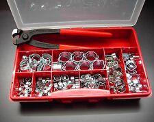 2-Ohrschellen W1 Sortiment 5-23mm insg. 160 Stück mit Knipex-Zange in Box