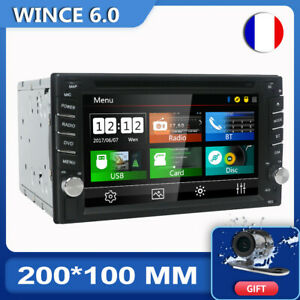 "6.2"" Double 2Din Autoradio CD DVD Player GPS Navi Sat BT Lien miroir USB Camera"