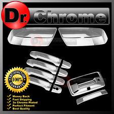 2015 GMC Sierra 2500+HD Chrome Mirror+4 Door Handle+Tailgate+Camera Hole Cover