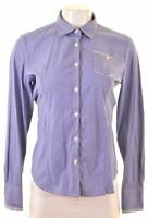 NAPAPIJRI Womens Shirt Size 10 Small Blue Striped Cotton Y007