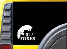 I love (heart) Foxes Sticker L031 6 inch fox decal