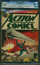 Action Comics #19 CGC 1.8 DC 1939 Key Early Superman Cover! K6 911 1 cm clean
