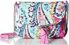 Vera Bradley NWT $68 Pink Wildflower Paisley Crossbody Carson RFID Mini Quilted