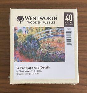 wentworth wooden jigsaw puzzle 40 Pieces *NEW* Le Pont Japonais By Claude Monte