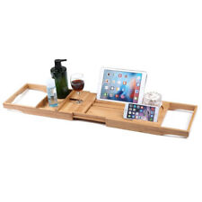 Bamboo Bathtub Caddy Bath Tub Tray with Extending Sides Include All Function