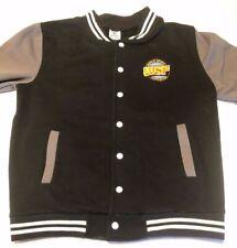 Women's World Spirit Federation National Champion Jacket Black Gray Size Large