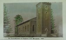 .RARE PORT MACQUARIE , ST THOMAS'S CHURCH NEW SOUTH WALES EARLY 1900'S POSTCARD