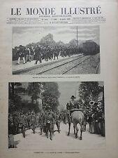 LE MONDE ILLUSTRE 1899 N 2208 ARRIVEE DES SOUDANAIS DE LA MISSION MARCHAND