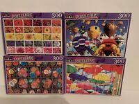 4 CraZArt Jigsaw Puzzles 300 Piece BALLOONS + BOTTLECAPS + FLOWERS + UMBRELLAS