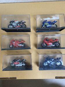 Lot Of 6 IXO 1/24 Motogp Diecast Model Motocycyle Bikes