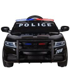 Kids Electric Ride on 12v Police Car with Parental Remote Control Flashing Siren