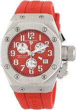 Swiss Legend 10535-05 Women's Trimix Diver Chronograph Steel Watch Red NEW