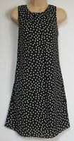New Florence & Fred Tesco Black White Spotted Shift Summer Dress - 8 - 22