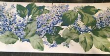 """Two Rolls Clarence House Wallpaper Border 10.25"""" Bandbox Shabby Blue Lilacs 28ft"""