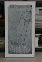 B1/ Peter Guth - Holzschnitt - Ausstellungsplakat auf Holz von 1988 - 100x53 /H3