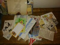 Ephemera lot Paper Cut Outs Newspaper Clippings Bookmarks 150+ Pieces Vintage