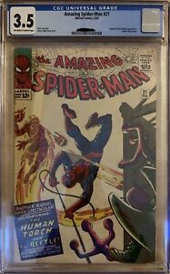 Amazing Spider-Man 21 CGC 3.5 Human Torch and Beetle appearance