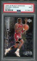 Michael Jordan Bulls 1998 Upper Deck Black Diamond Basketball Card #6 PSA 9