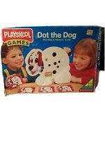Dot the Dog Matching and Memory  Playskool Game 1995 COMPLETE vintage