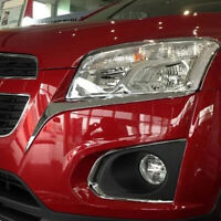 For Chevrolet Holden Trax 2014 2015 2016 Chrome Front Headlights Eyebrow Cover