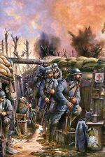 WW1 - Tranchée française sous le feu de l'ennemi