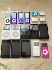 18 APPLE iPod For Parts Lot MIXED GENERATIONS NANO & TOUCH & SHUFFLE & CLASSIC