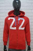HOLLISTER Felpa Cardigan Uomo Taglia XL Maglione Pullover Sweatshirt Cotone