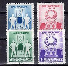 Indonesia - 1957 Cooperation Day Mi. 201-04 MNH