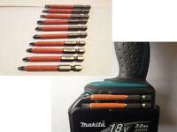 Makita Impact Drill Driver BIT HOLDER & torsion 10pc s2 non slip mixed bit set
