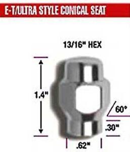 20 LUG NUTS 12mmx1.25 FOR ET E-T WHEELS # 68128 FOR OLDER NISSAN DATSUN 12mm1.25