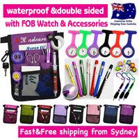 Nurse Pouch Nurses FOB Watch Pocket Belt Wallet Pick Bag Penlight Pen ID Holder